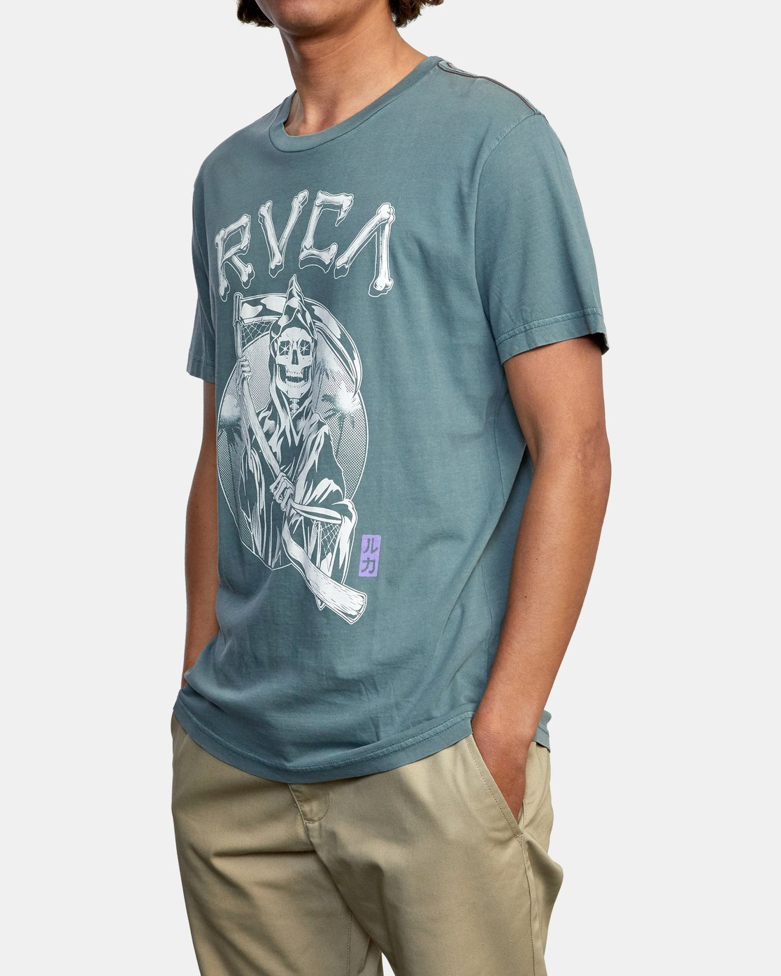 4 TROUBLE IN PARADISE SHORT SLEEVE TEE Purple AVYZT00253 RVCA