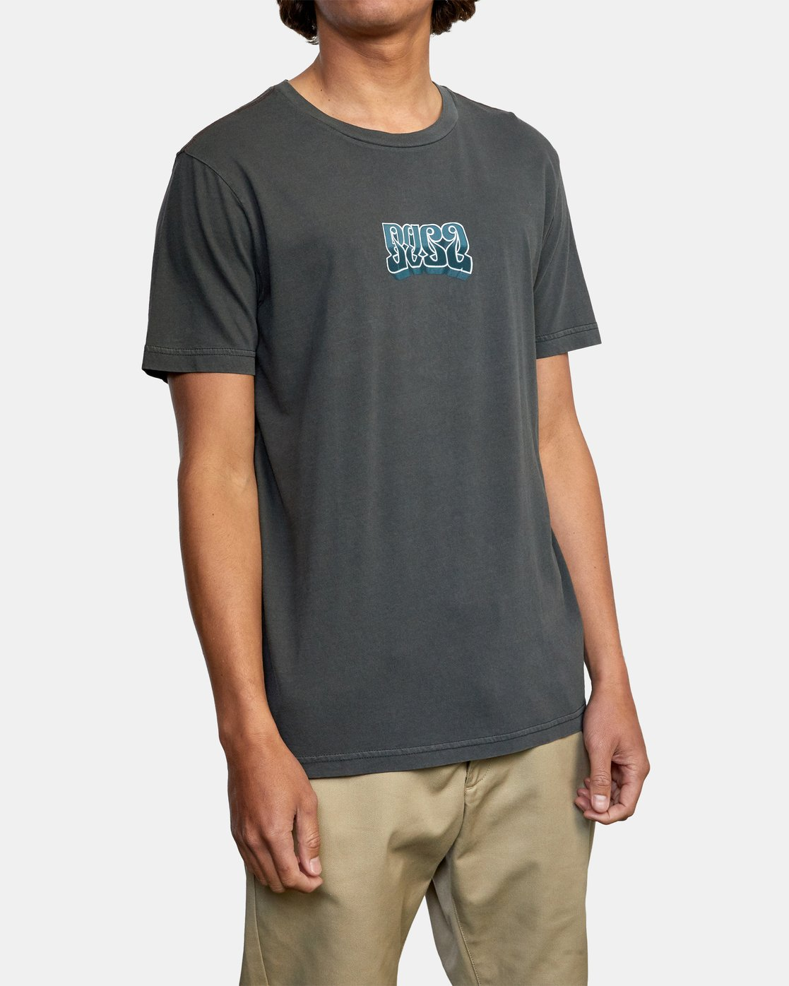8 ADRESTIA SHORT SLEEVE TEE Black AVYZT00254 RVCA