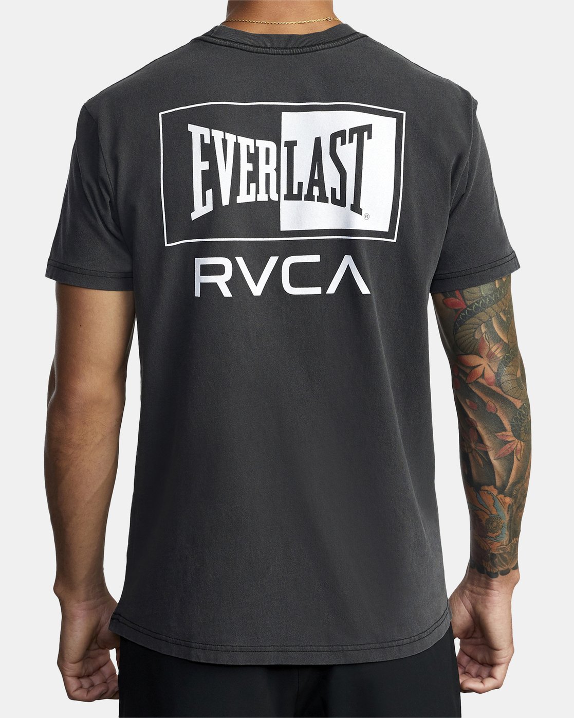 6 EVERLAST STACK SHORT SLEEVE WORKOUT T-SHIRT Black AVYZT00286 RVCA