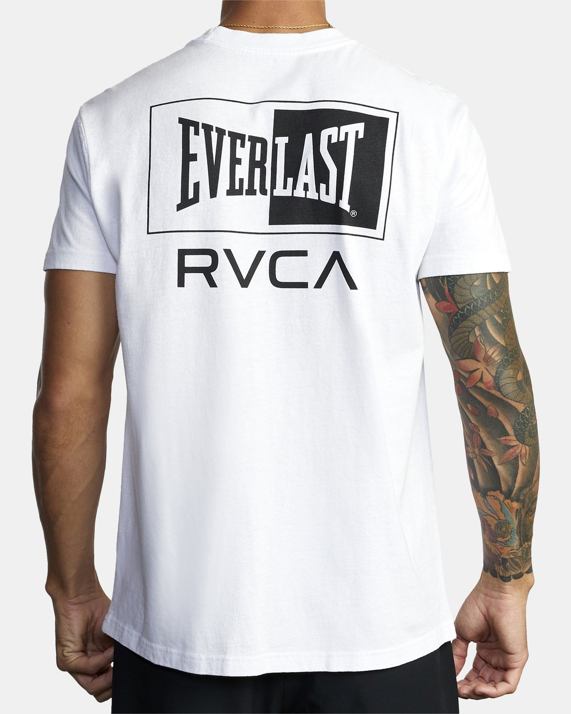 6 EVERLAST STACK SHORT SLEEVE WORKOUT T-SHIRT White AVYZT00286 RVCA