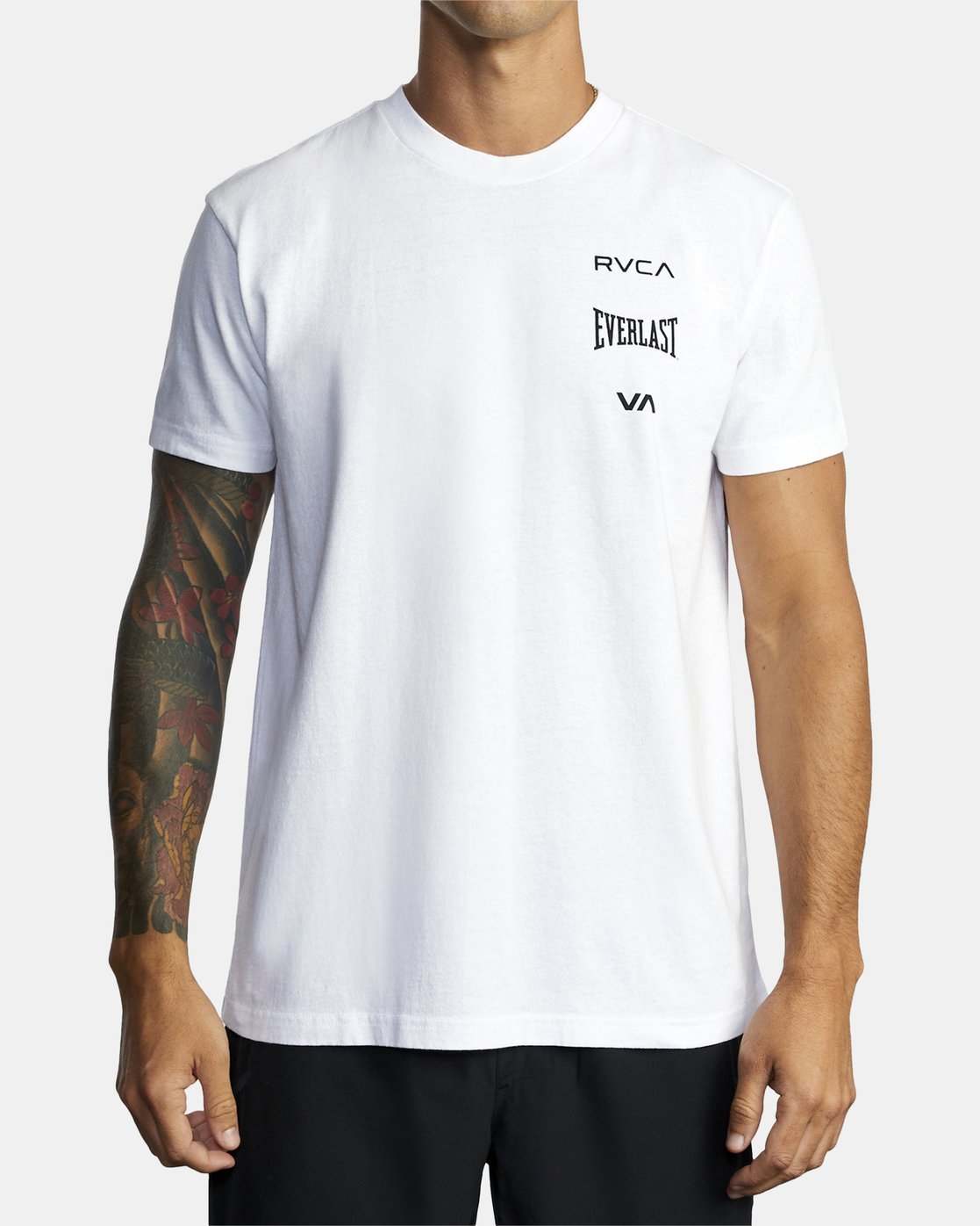 5 EVERLAST STACK SHORT SLEEVE WORKOUT T-SHIRT White AVYZT00286 RVCA