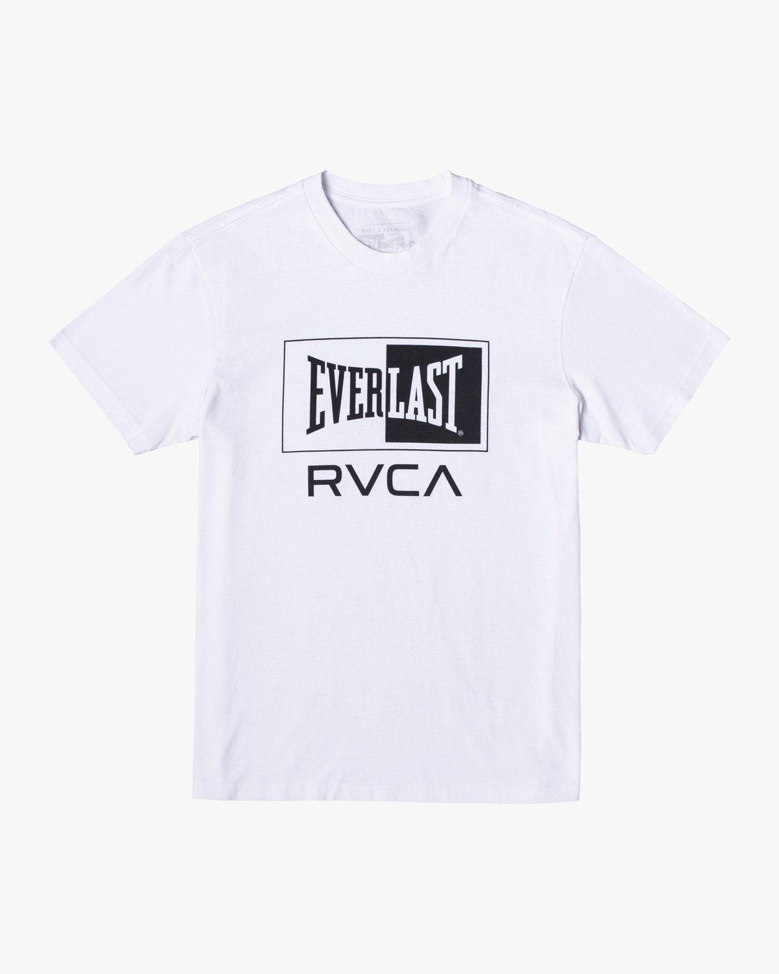 0 EVERLAST BOX SHORT SLEEVE WORKOUT T-SHIRT White AVYZT00287 RVCA