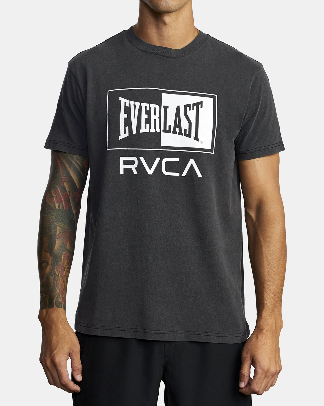 2 EVERLAST BOX SHORT SLEEVE WORKOUT T-SHIRT Black AVYZT00287 RVCA