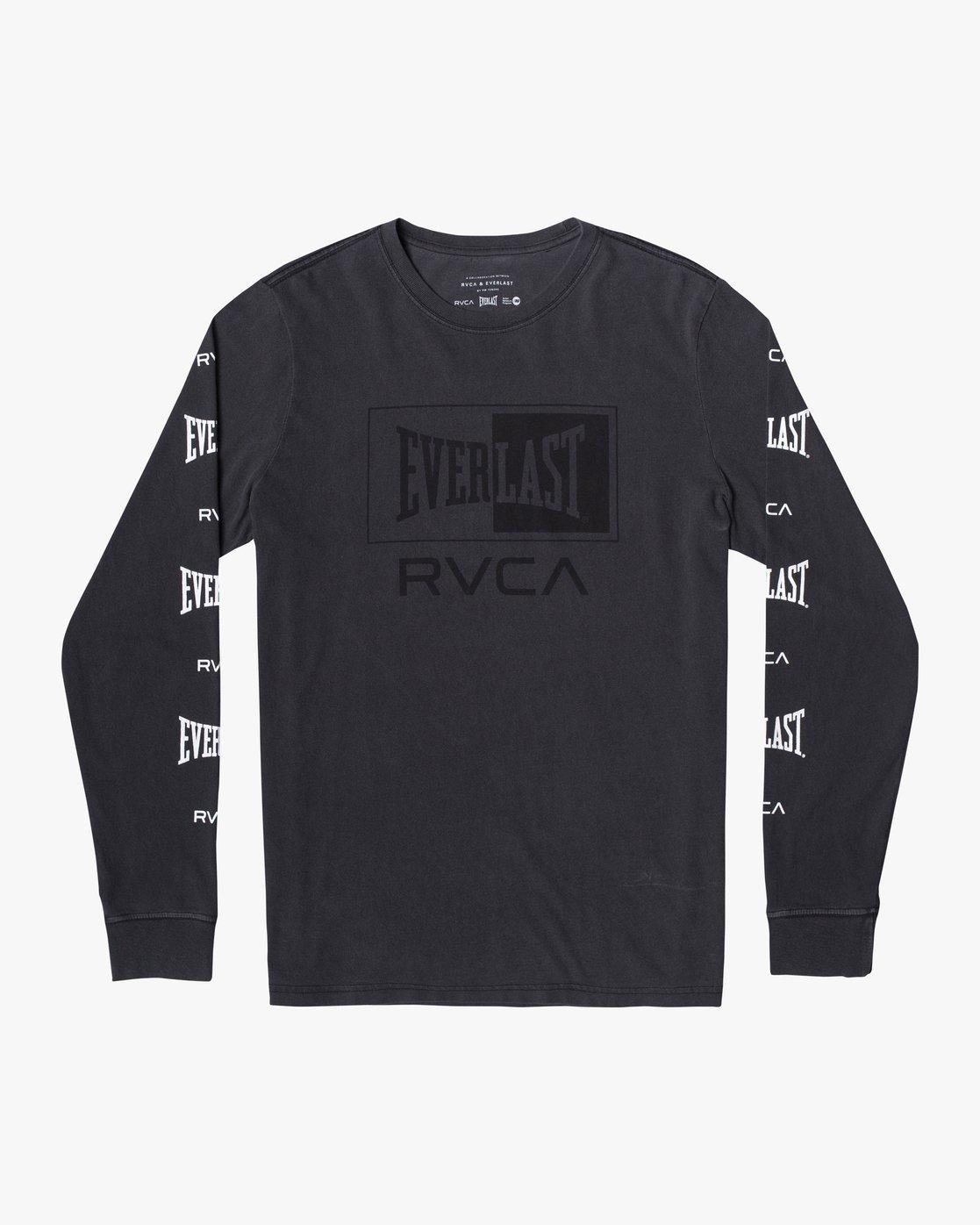 0 EVERLAST BOX LONG SLEEVE WORKOUT T-SHIRT Black AVYZT00288 RVCA