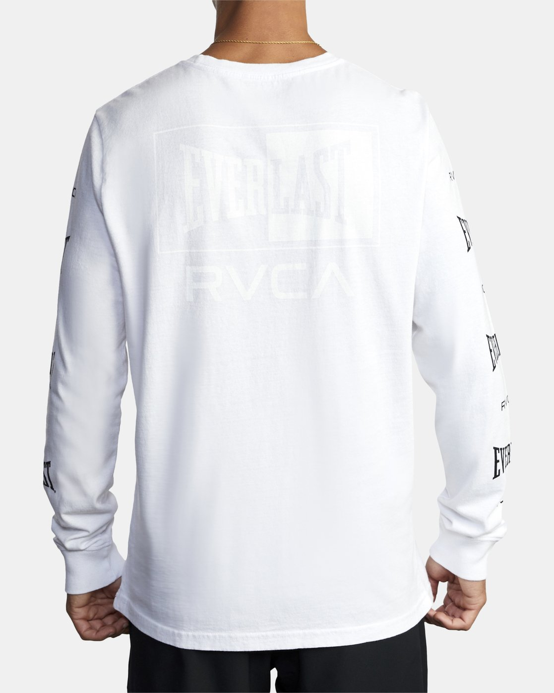 7 EVERLAST BOX LONG SLEEVE WORKOUT T-SHIRT White AVYZT00288 RVCA