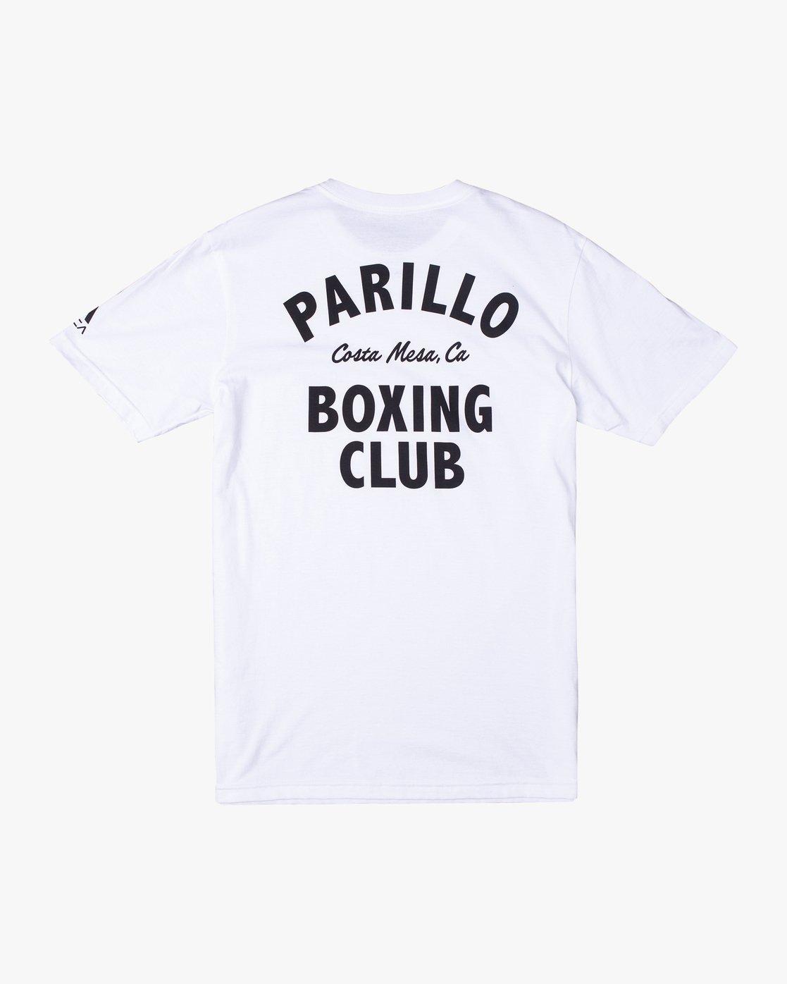 1 Parillo Boxing Club Short Sleeve T-Shirt White AVYZT00298 RVCA