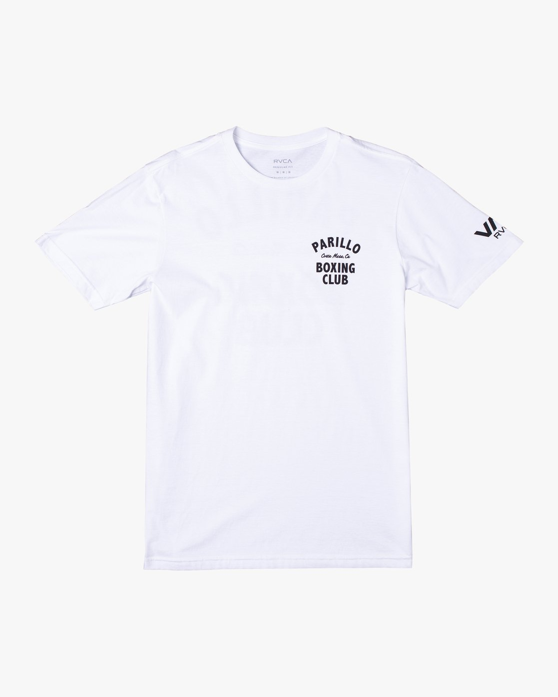 0 Parillo Boxing Club Short Sleeve T-Shirt White AVYZT00298 RVCA