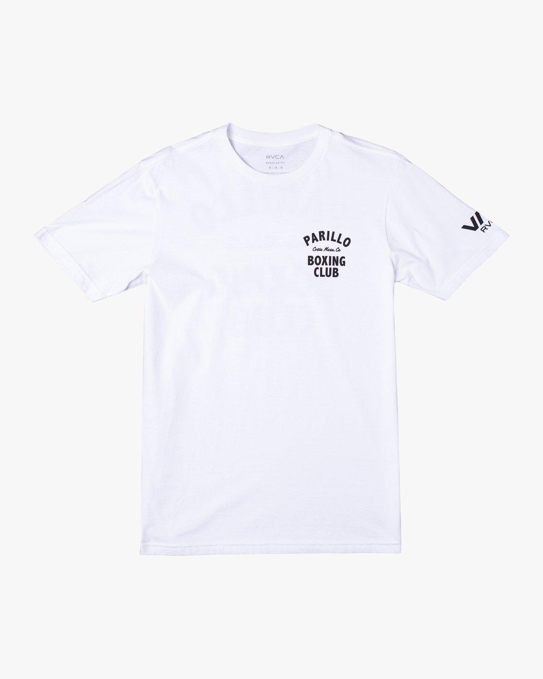 0 Parillo Boxing Club Short Sleeve T-Shirt White AVYZT00298 RVCA