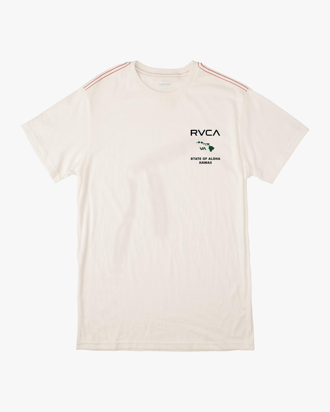 0 STATE OF ALOHA SHORT SLEEVE TEE White AVYZT00323 RVCA