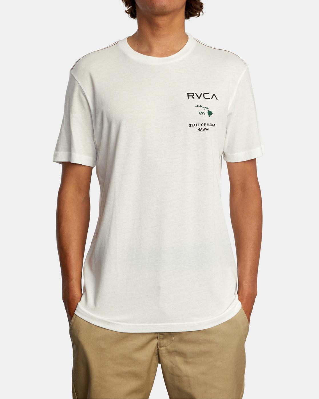 2 STATE OF ALOHA SHORT SLEEVE TEE White AVYZT00323 RVCA