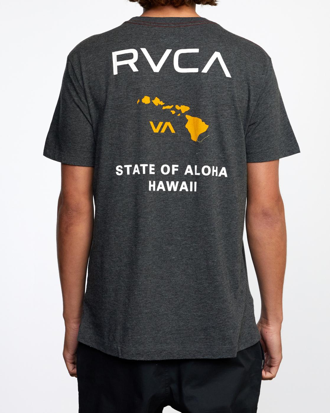 3 STATE OF ALOHA SHORT SLEEVE TEE Black AVYZT00323 RVCA
