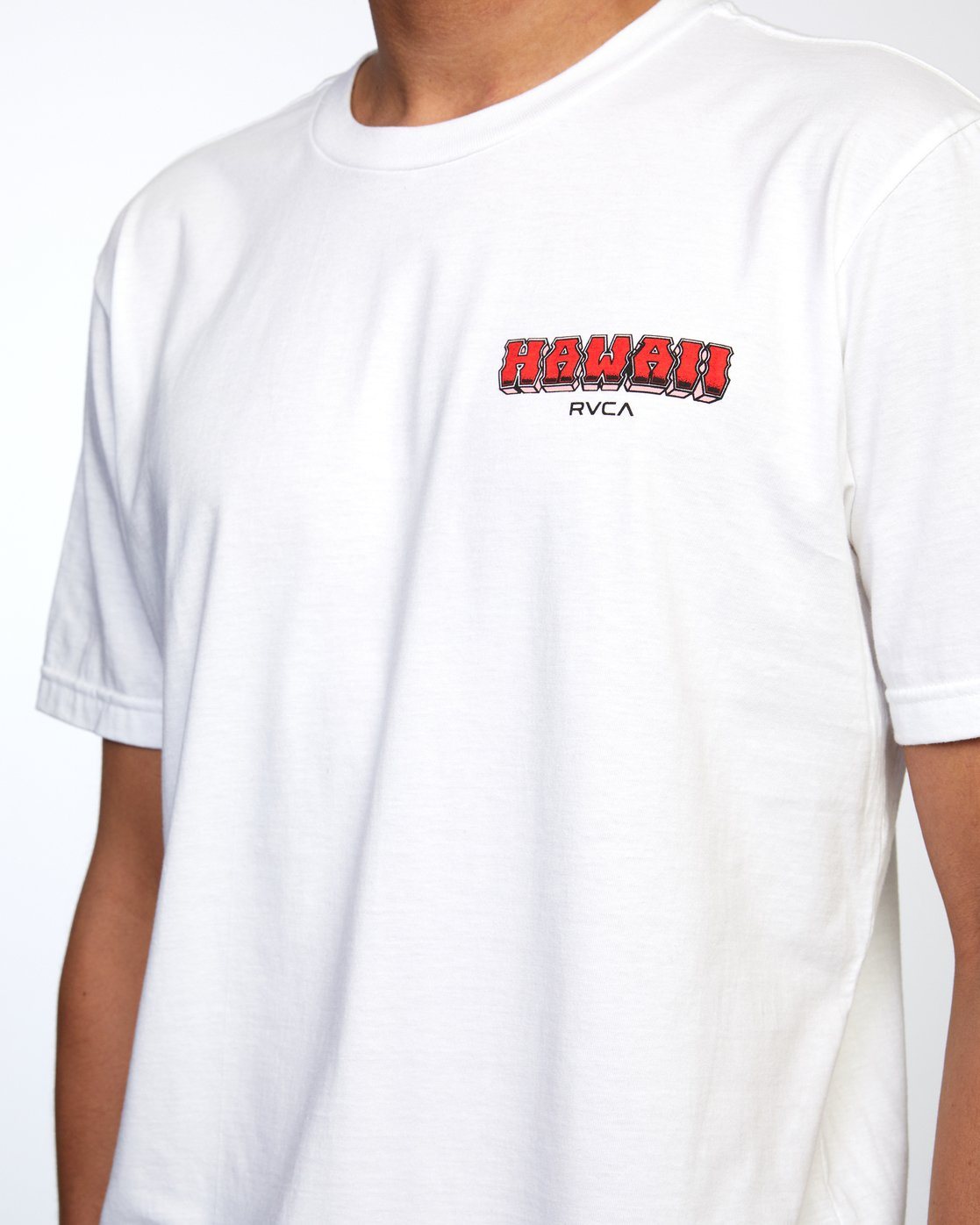 4 WELCOME TO PIPE SHORT SLEEVE TEE White AVYZT00325 RVCA