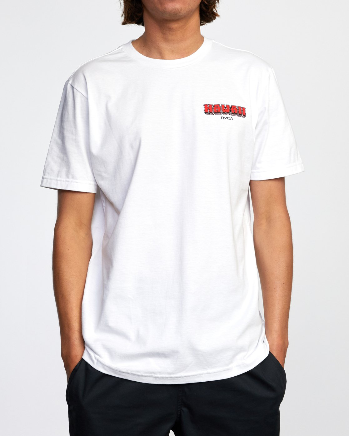2 WELCOME TO PIPE SHORT SLEEVE TEE White AVYZT00325 RVCA