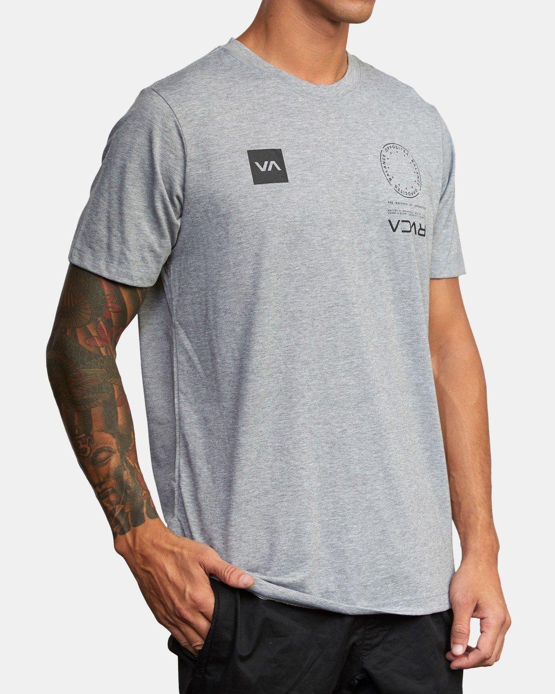 2 VA MARK TEE Grey AVYZT00355 RVCA