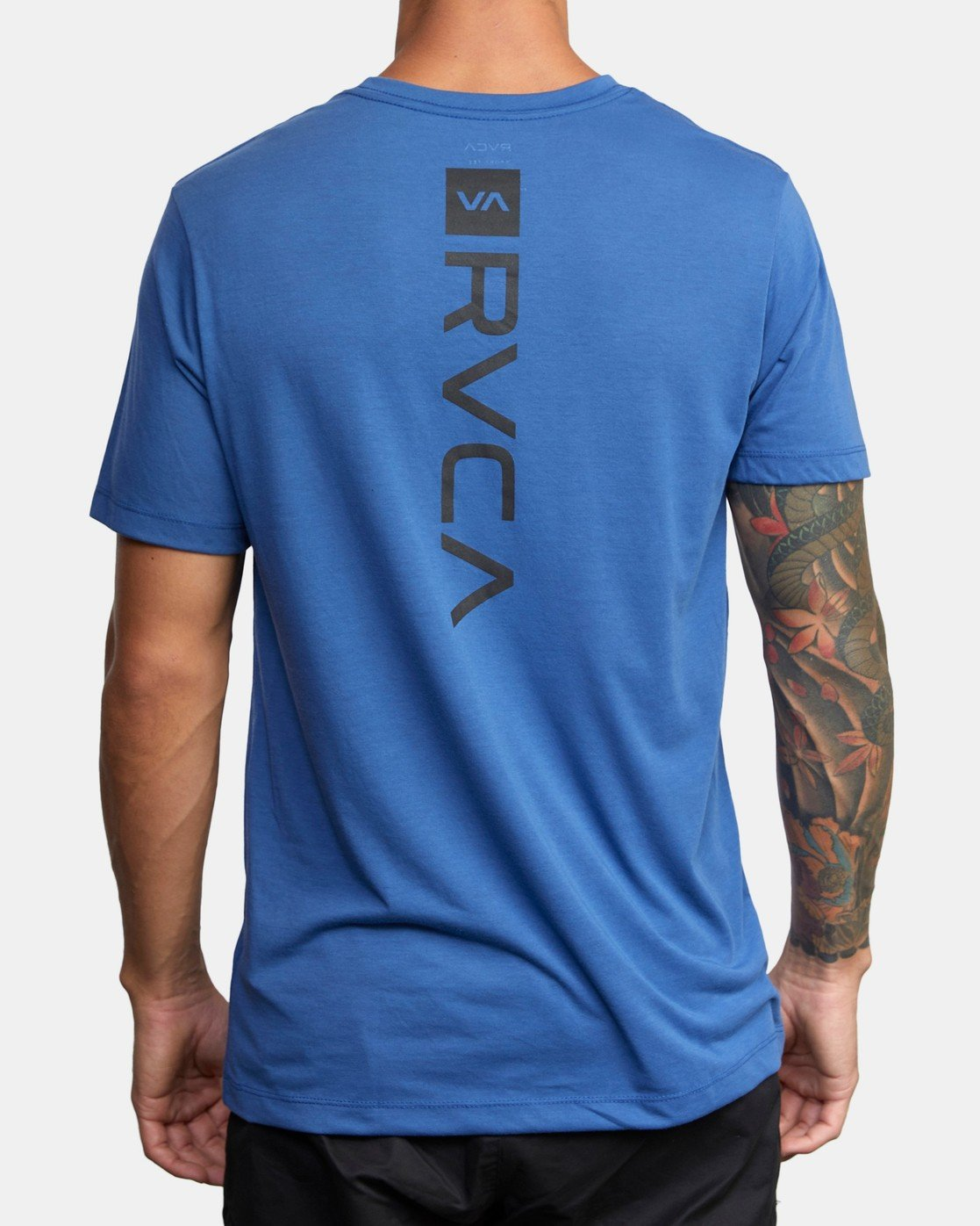 3 VA MARK TEE Blue AVYZT00355 RVCA