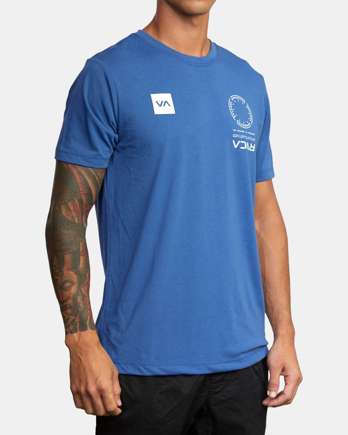 2 VA MARK TEE Blue AVYZT00355 RVCA