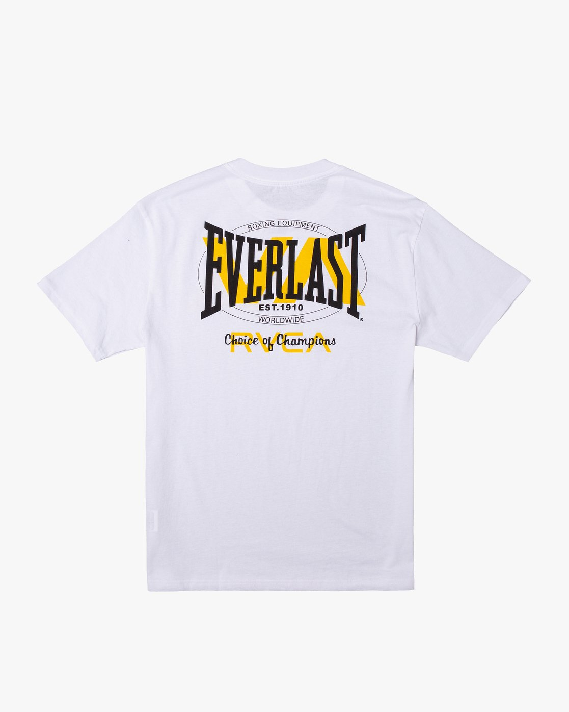 1 RVCA EVERLAST STACK PATCH SHORT SLEEVE TEE White AVYZT00398 RVCA