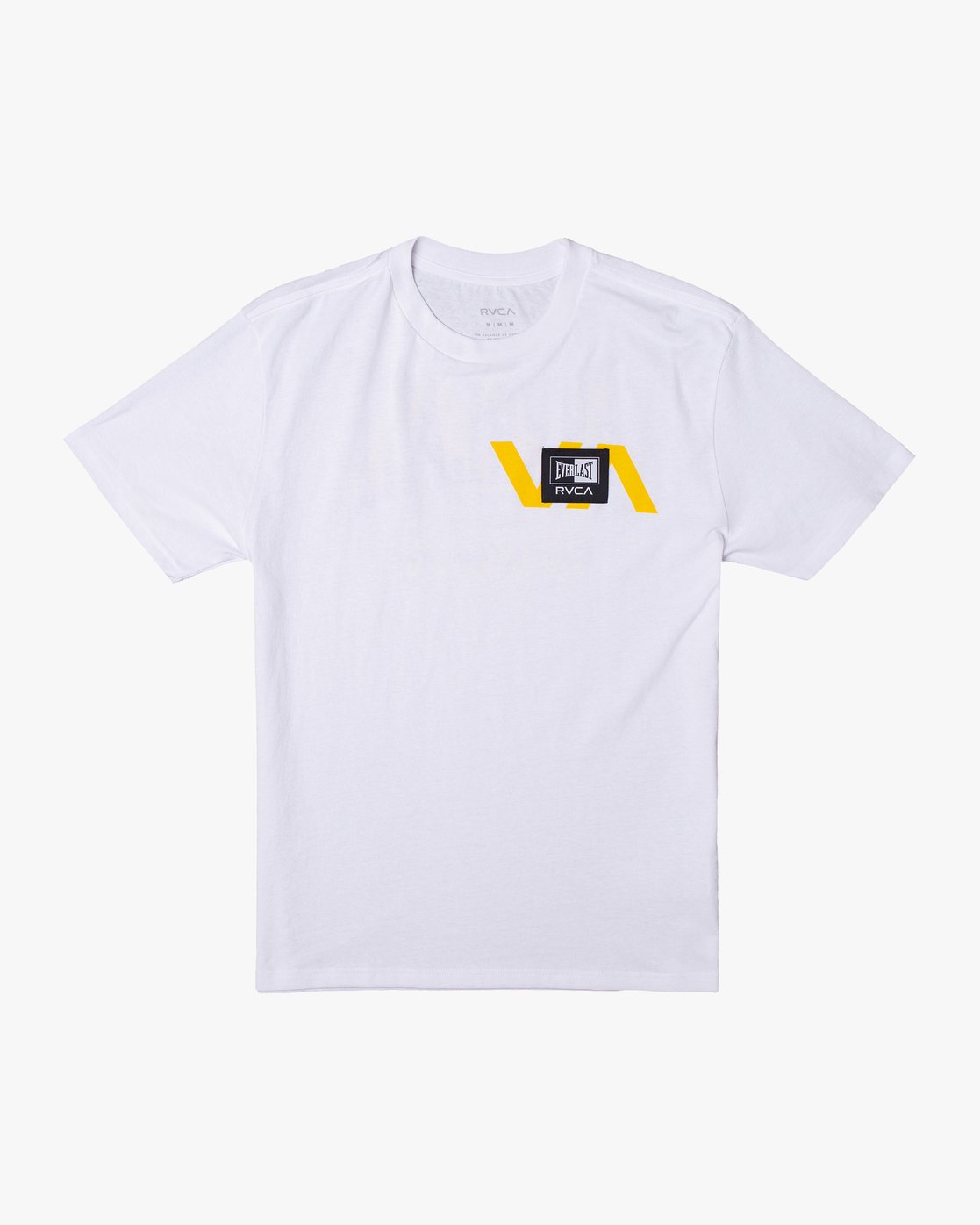 0 RVCA EVERLAST STACK PATCH SHORT SLEEVE TEE White AVYZT00398 RVCA