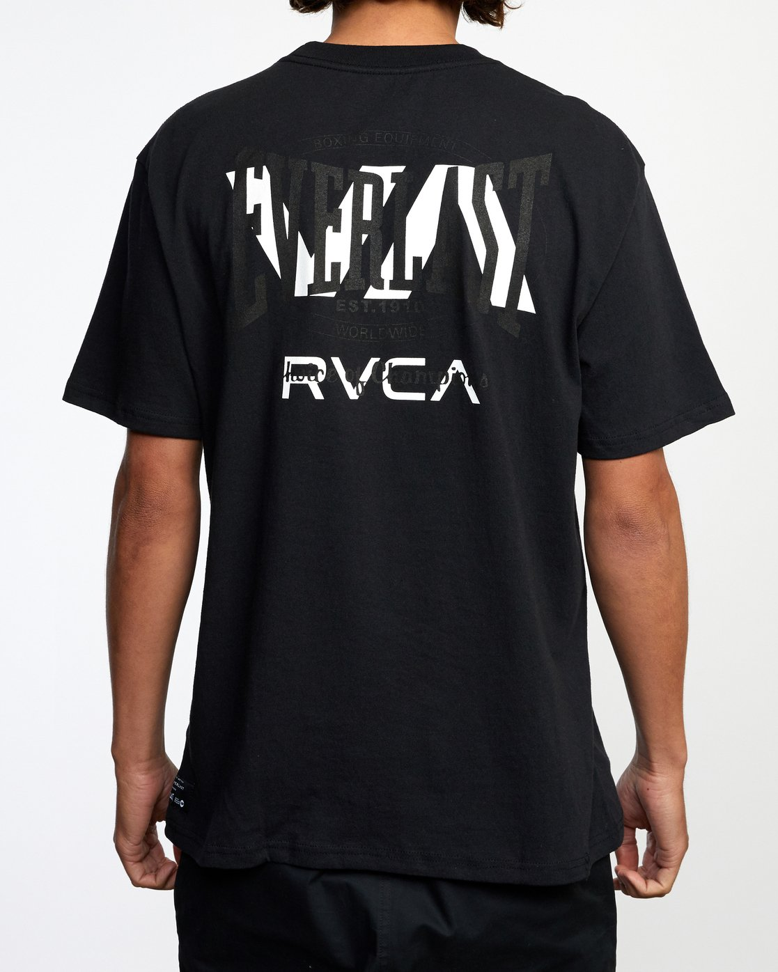 3 RVCA EVERLAST STACK PATCH SHORT SLEEVE TEE Black AVYZT00398 RVCA