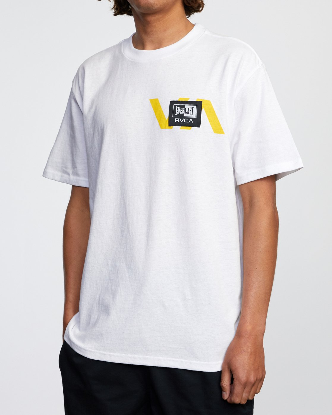 5 RVCA EVERLAST STACK PATCH SHORT SLEEVE TEE White AVYZT00398 RVCA