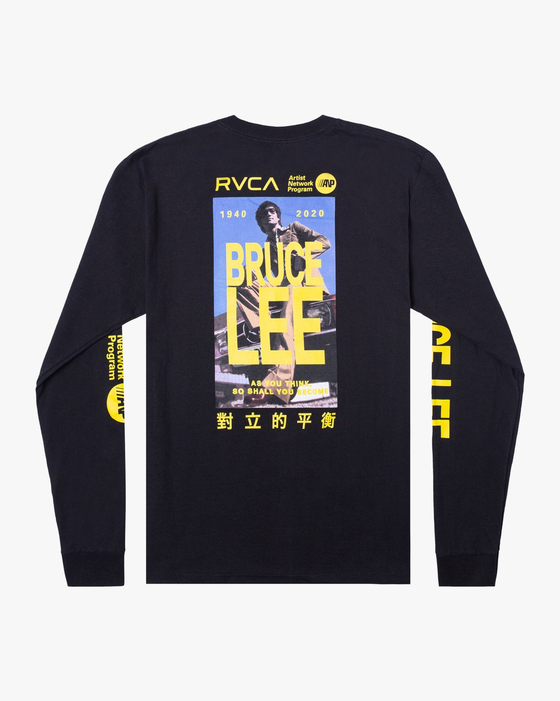 1 BRUCE LEE AS YOU THINK LONG SLEEVE TEE Black AVYZT00439 RVCA