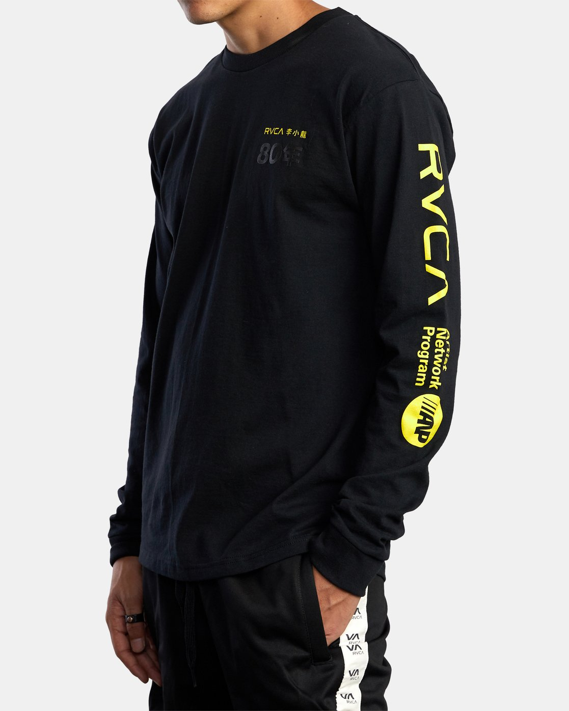 5 BRUCE LEE AS YOU THINK LONG SLEEVE TEE Black AVYZT00439 RVCA