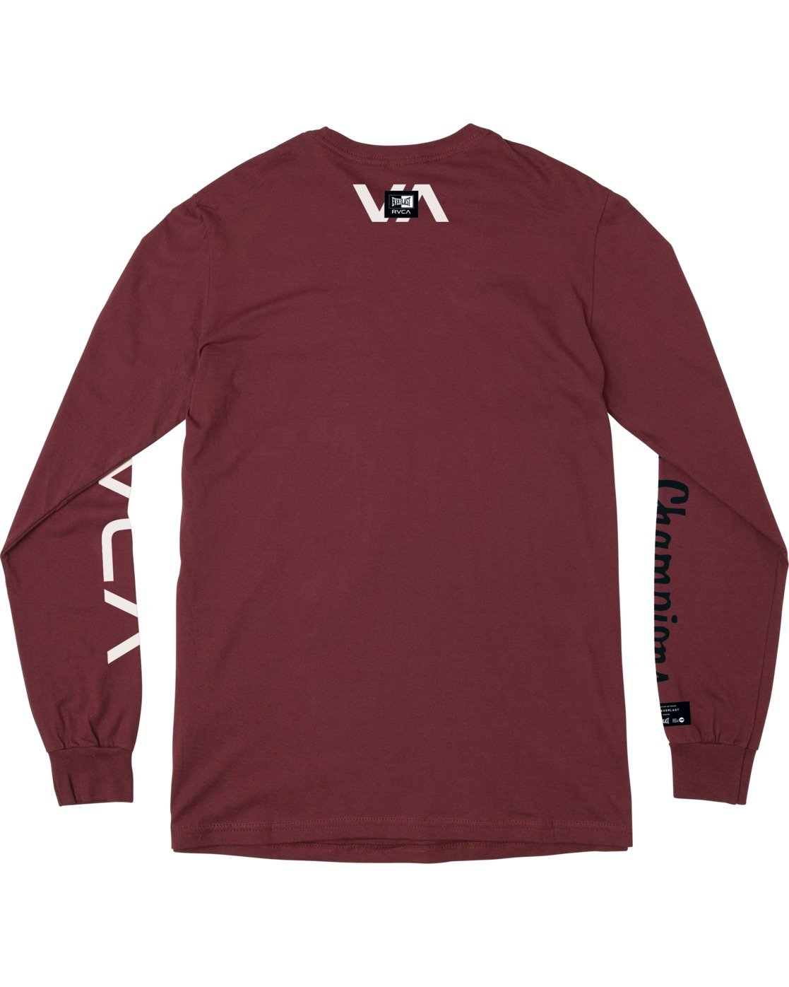 1 RVCA EVERLAST STACK PATCH LONG SLEEVE TEE White AVYZT00458 RVCA