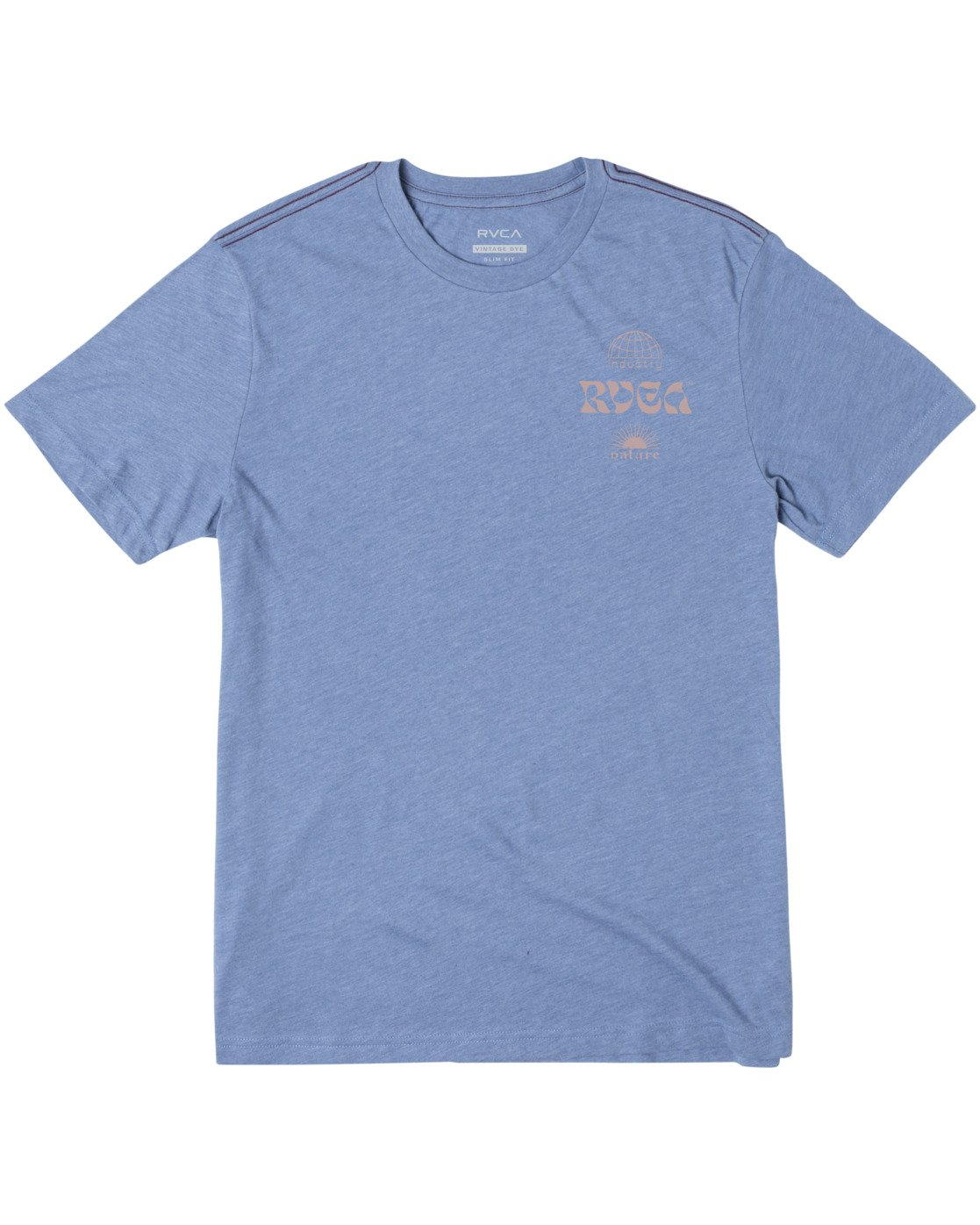 0 Vibrations Short Sleeve Tee Blue AVYZT00461 RVCA