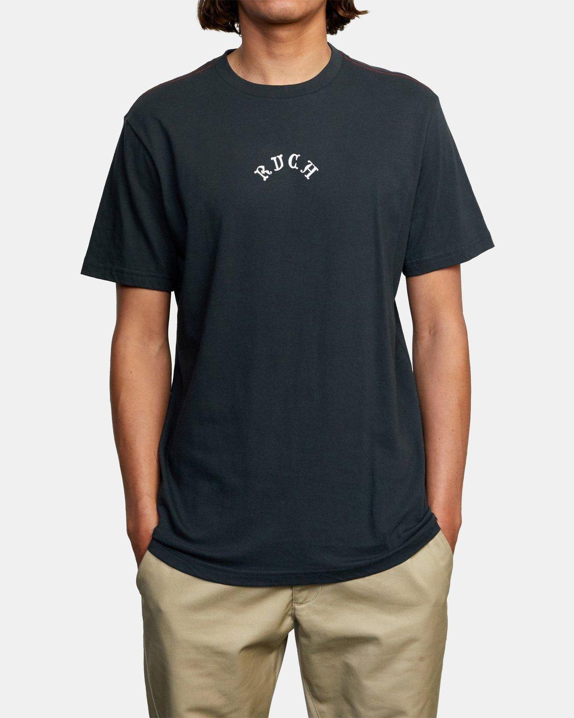3 Balance Monkey Short Sleeve Tee Black AVYZT00469 RVCA