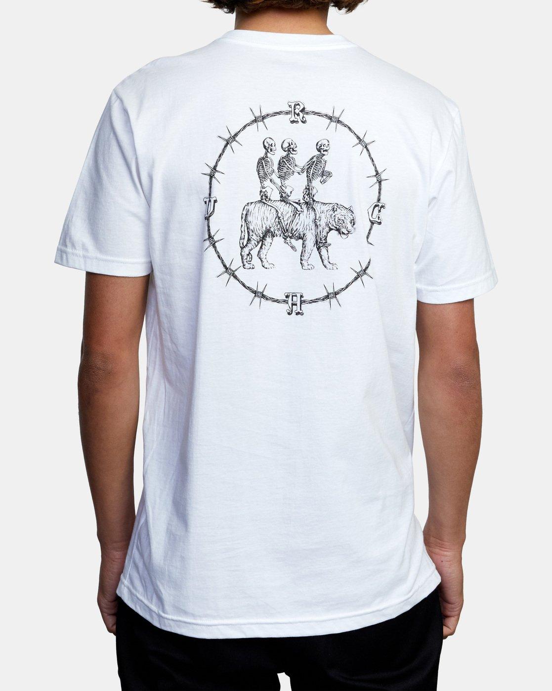 3 Tres Hombres Short Sleeve Tee White AVYZT00475 RVCA