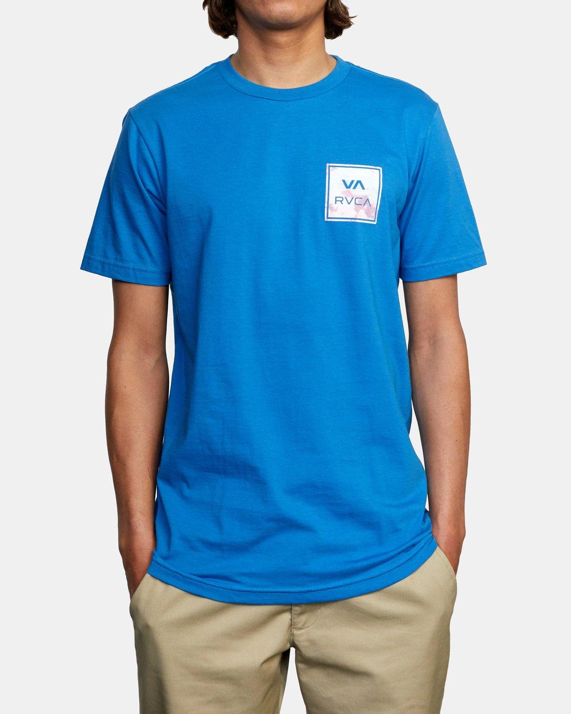 2 VA All The Way Short Sleeve Tee Blue AVYZT00480 RVCA
