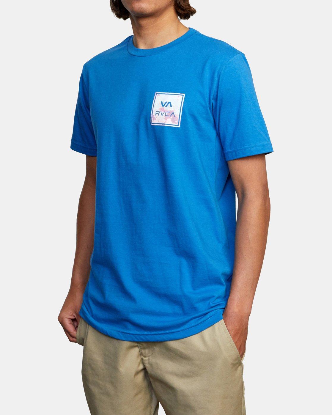 4 VA All The Way Short Sleeve Tee Blue AVYZT00480 RVCA