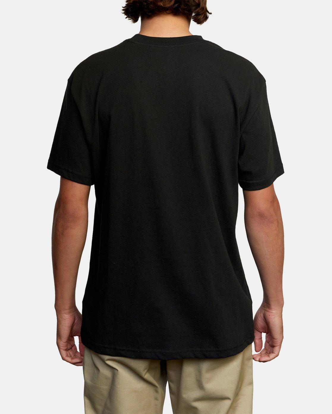 2 Krome Short Sleeve Tee Black AVYZT00486 RVCA