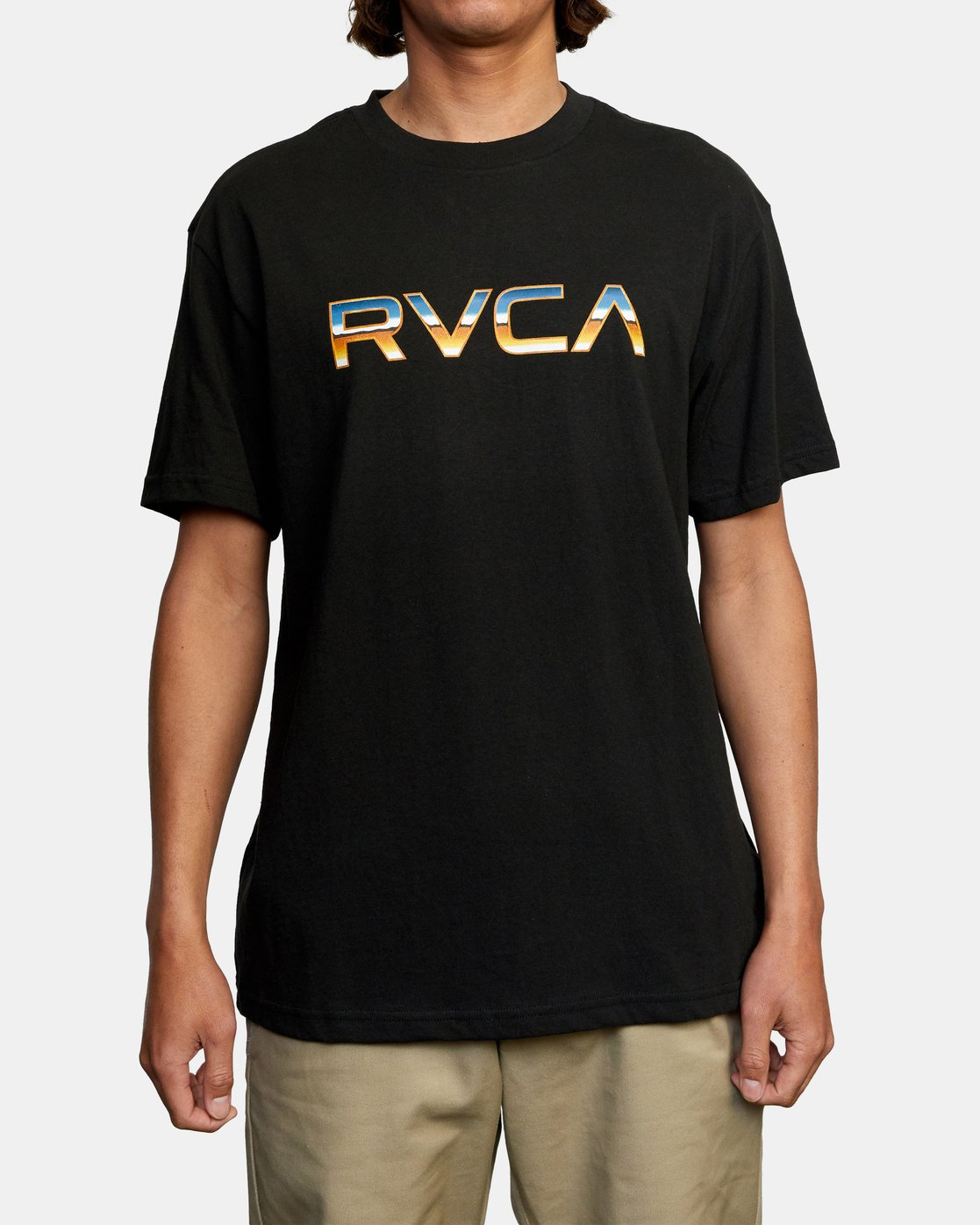1 Krome Short Sleeve Tee Black AVYZT00486 RVCA