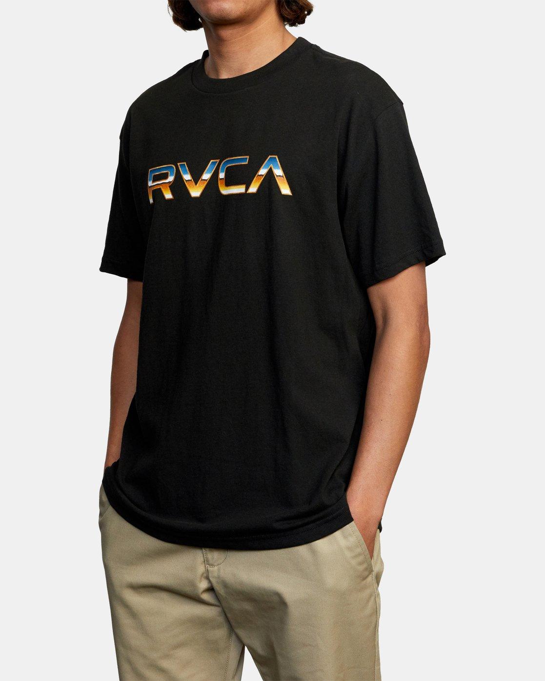 3 Krome Short Sleeve Tee Black AVYZT00486 RVCA