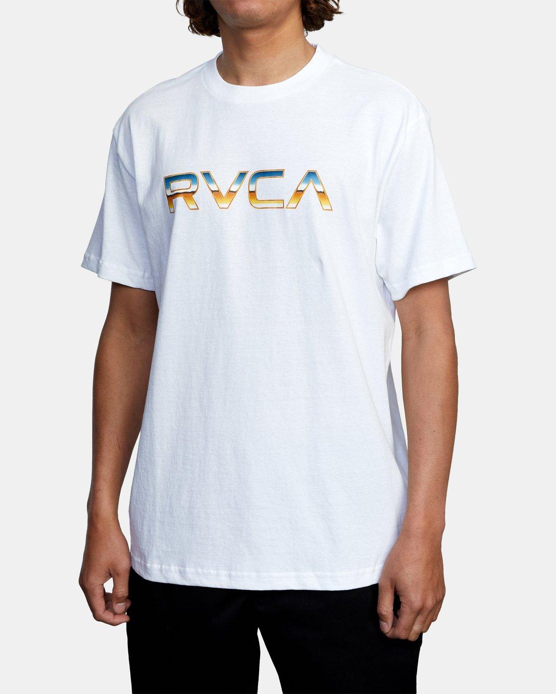 3 Krome Short Sleeve Tee White AVYZT00486 RVCA