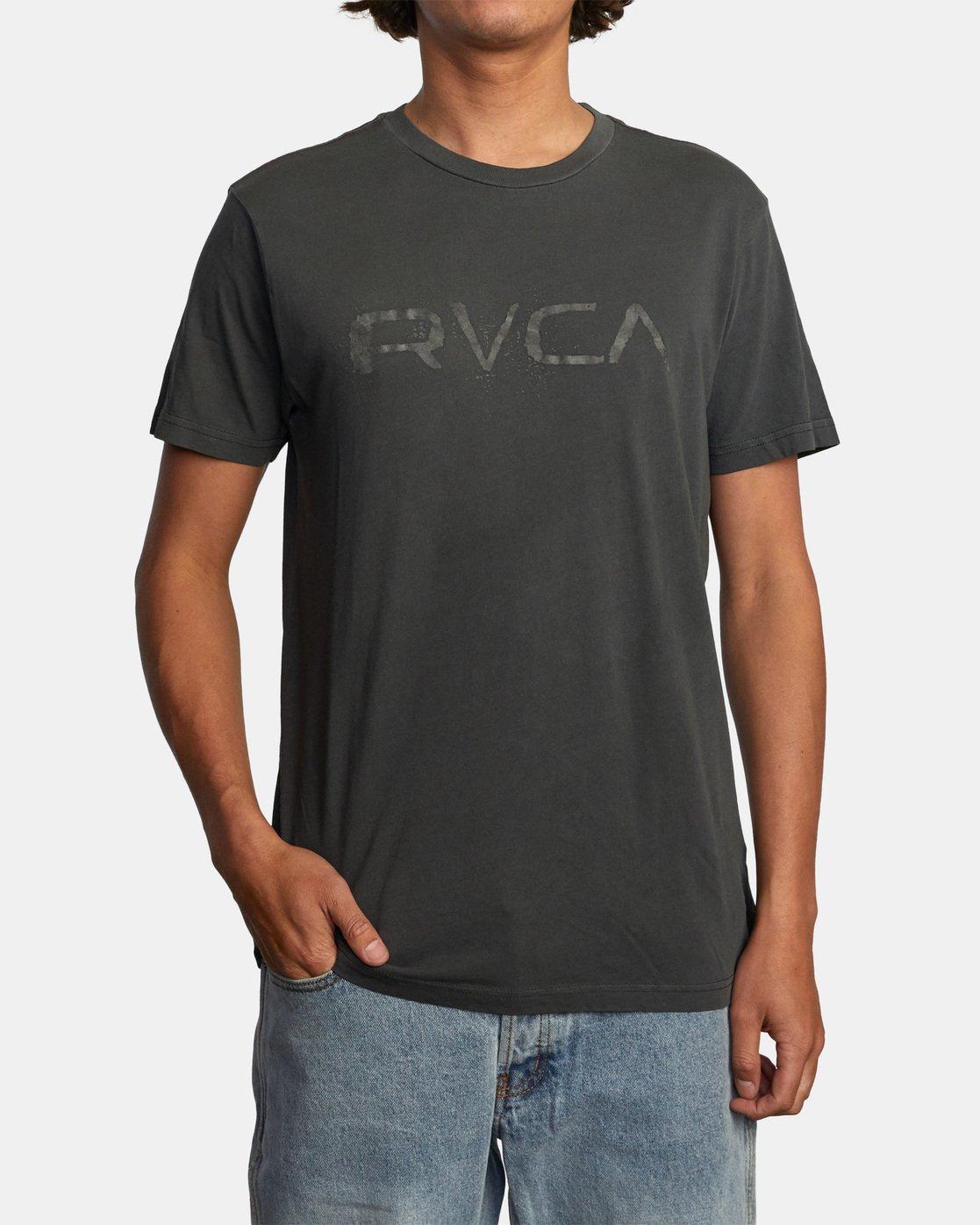 1 Bleecher Short Sleeve Tee Black AVYZT00491 RVCA