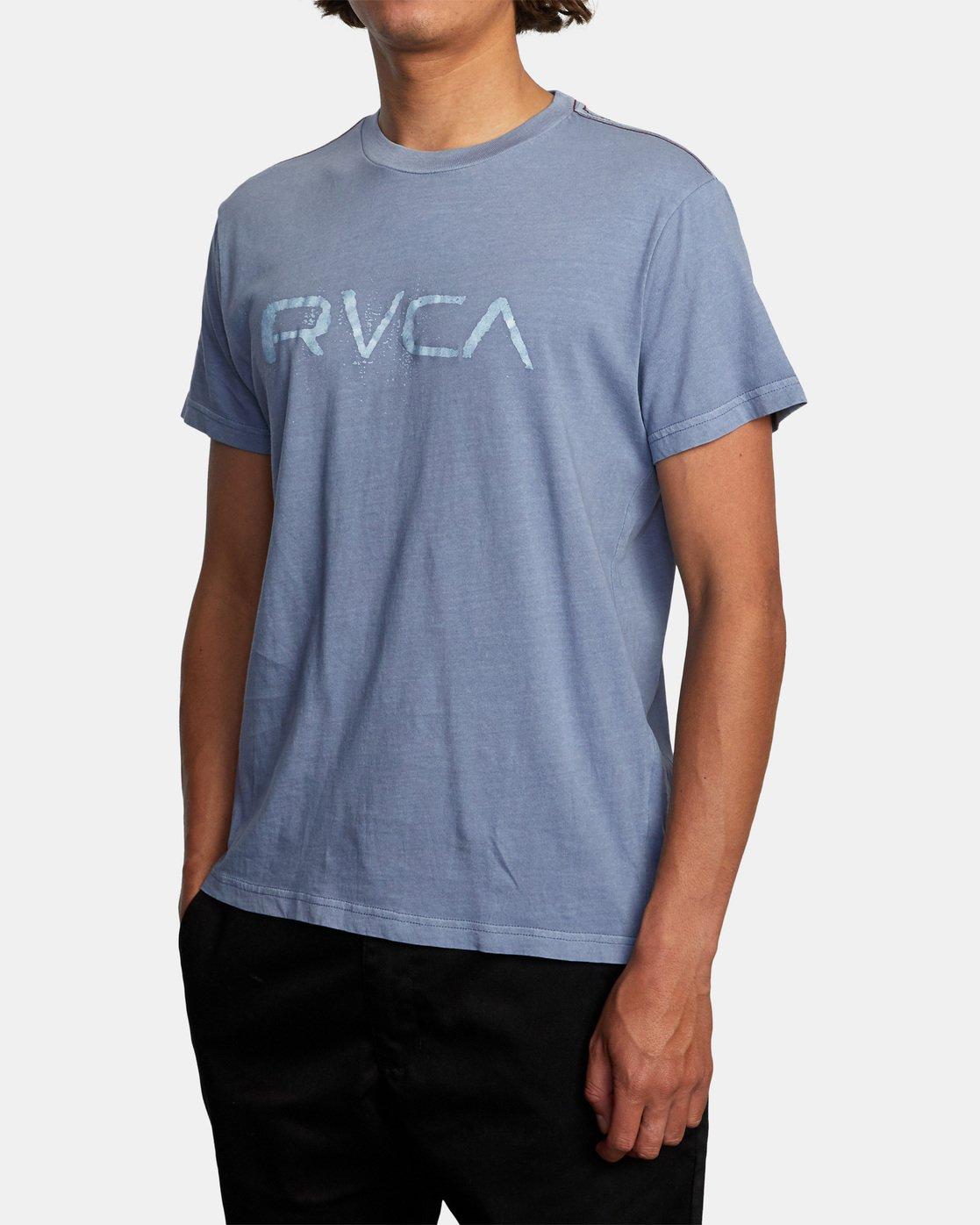 3 Bleecher Short Sleeve Tee Grey AVYZT00491 RVCA