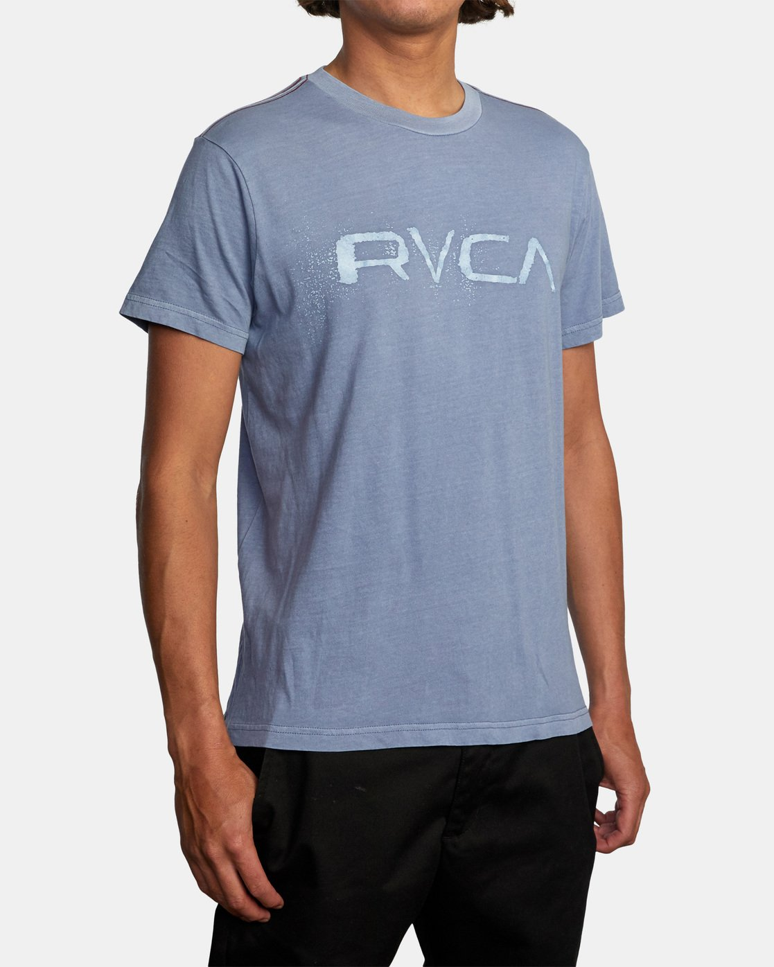 4 Bleecher Short Sleeve Tee Grey AVYZT00491 RVCA