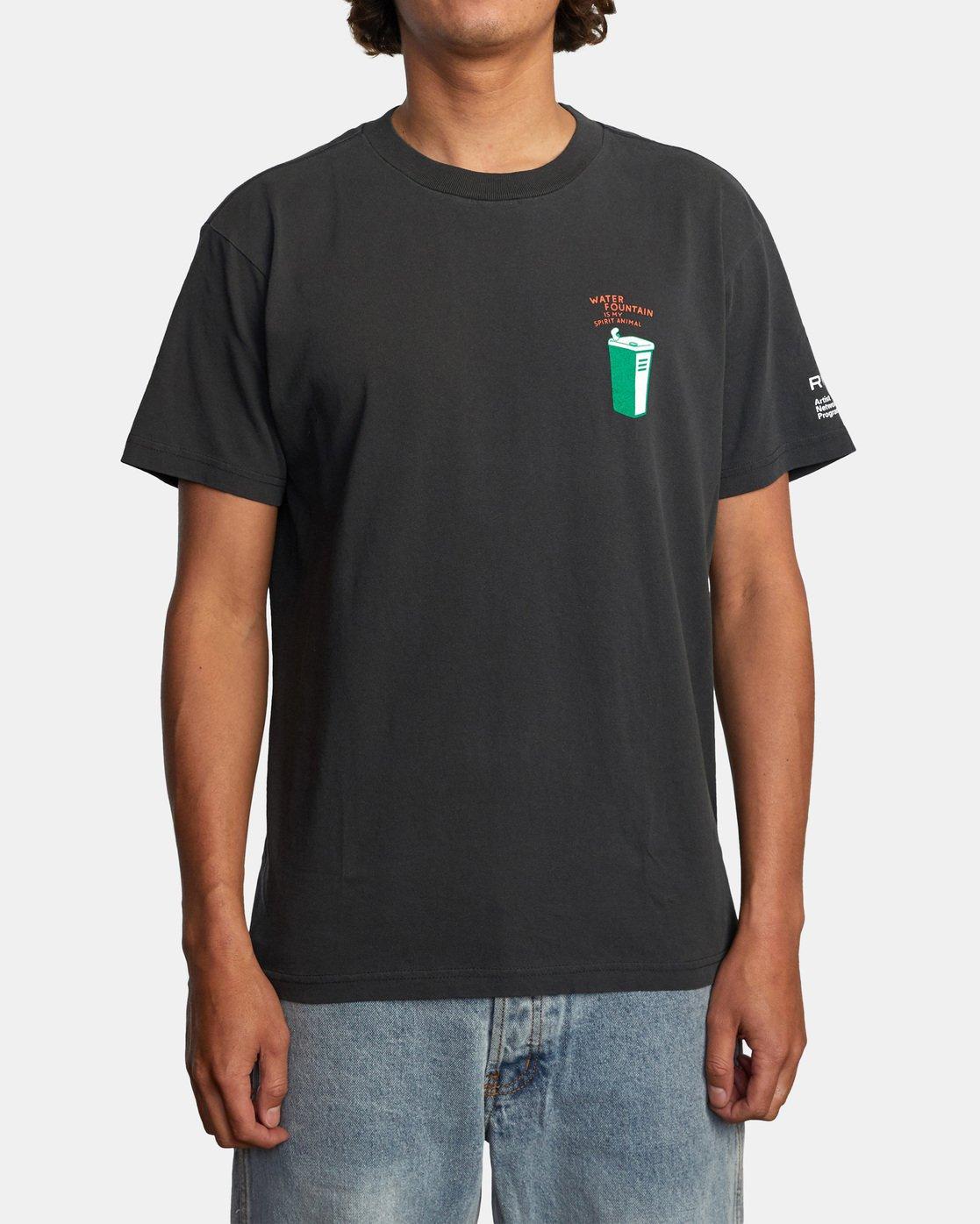 2 Espo Chase Short Sleeve Tee Black AVYZT00494 RVCA