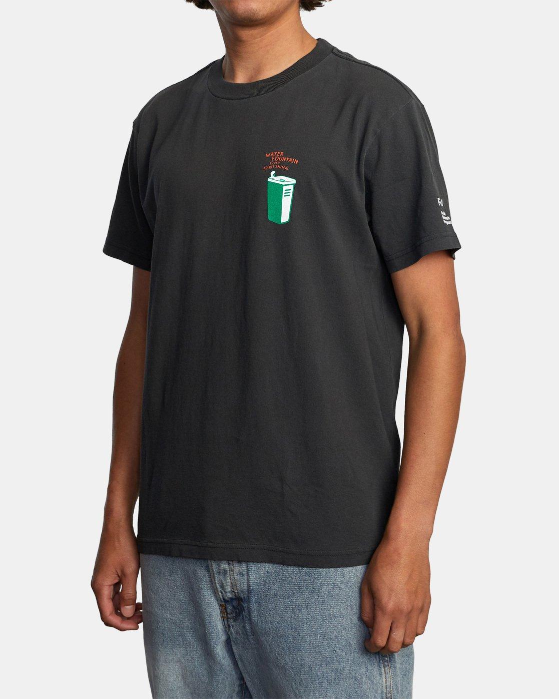 4 Espo Chase Short Sleeve Tee Black AVYZT00494 RVCA