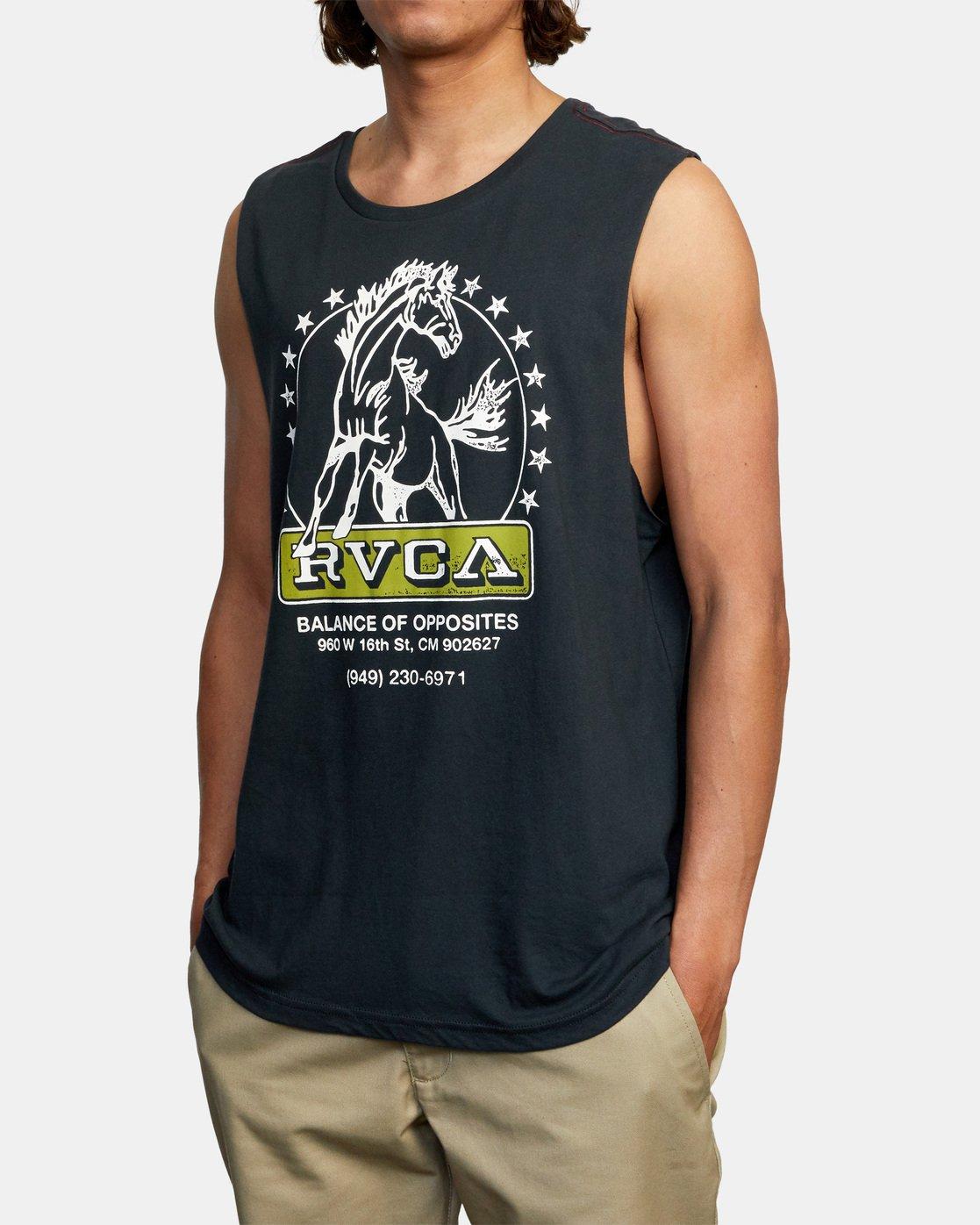 3 Unbroken Muscle Tank Top Black AVYZT00507 RVCA