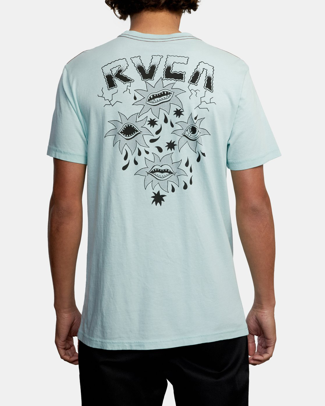 3 DMOTE STARFISH SHORT SLEEVE TEE White AVYZT00509 RVCA