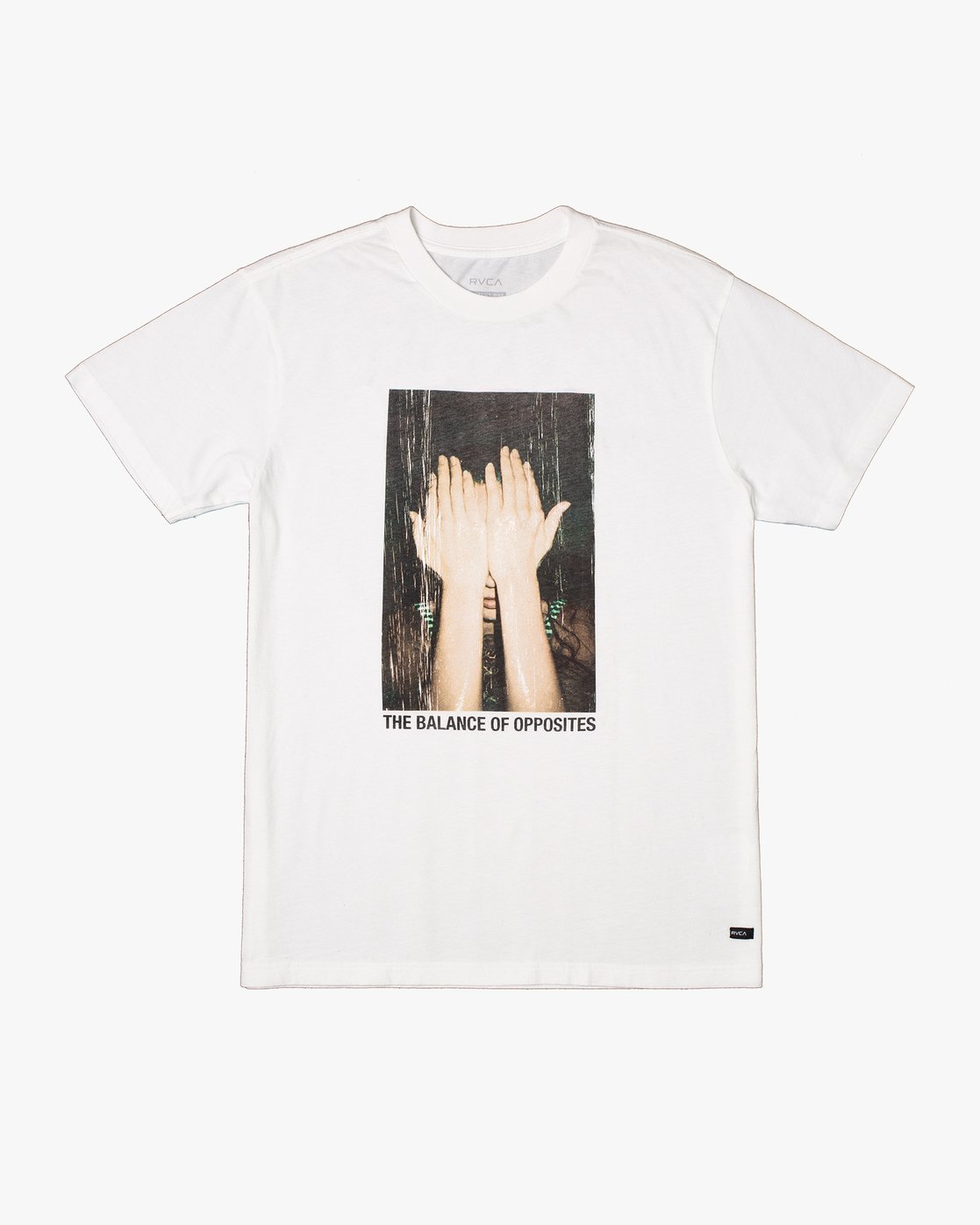 0 EVAN MOCK PHOTO SHORT SLEEVE TEE White AVYZT00511 RVCA