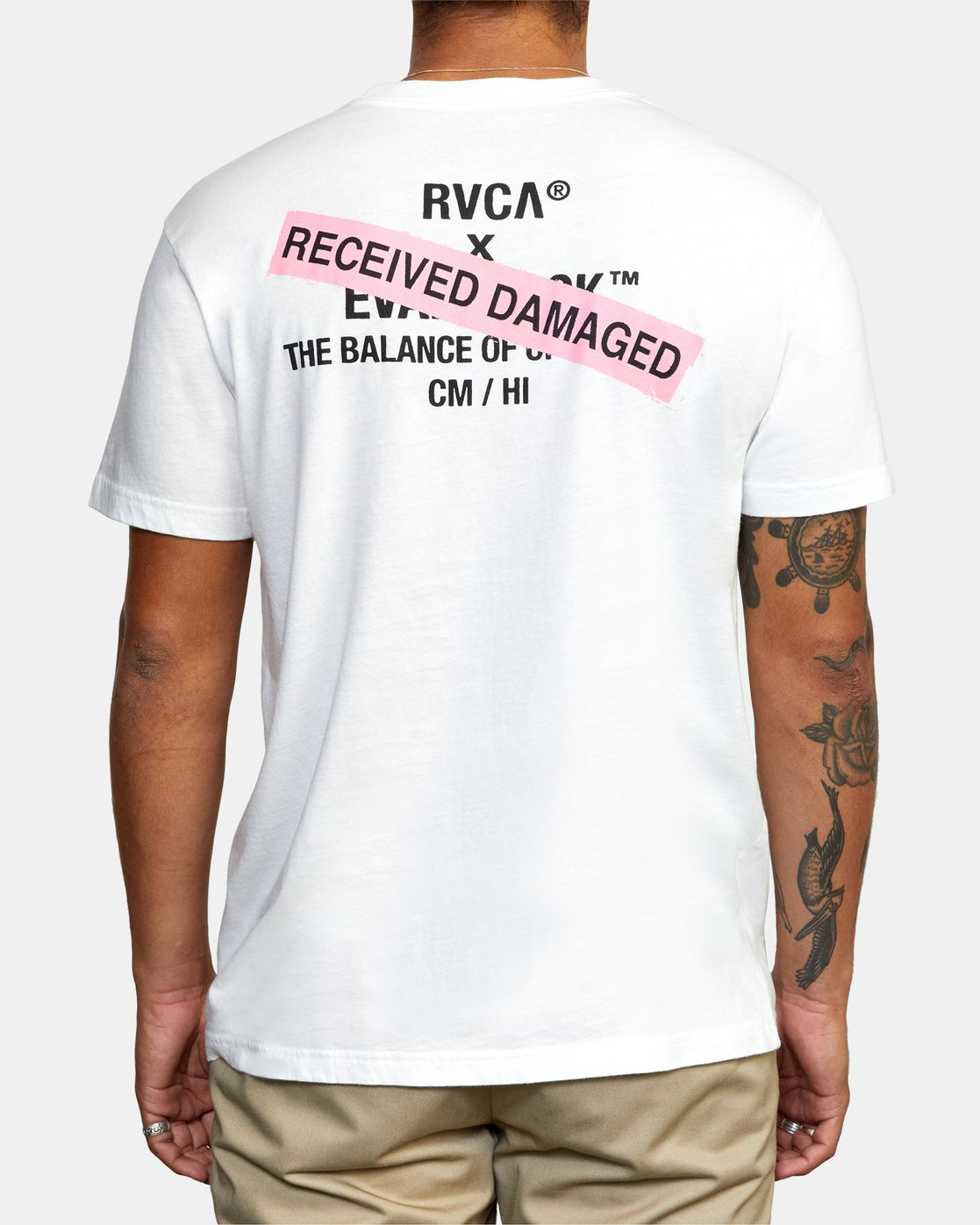 2 EVAN MOCK PHOTO SHORT SLEEVE TEE White AVYZT00511 RVCA