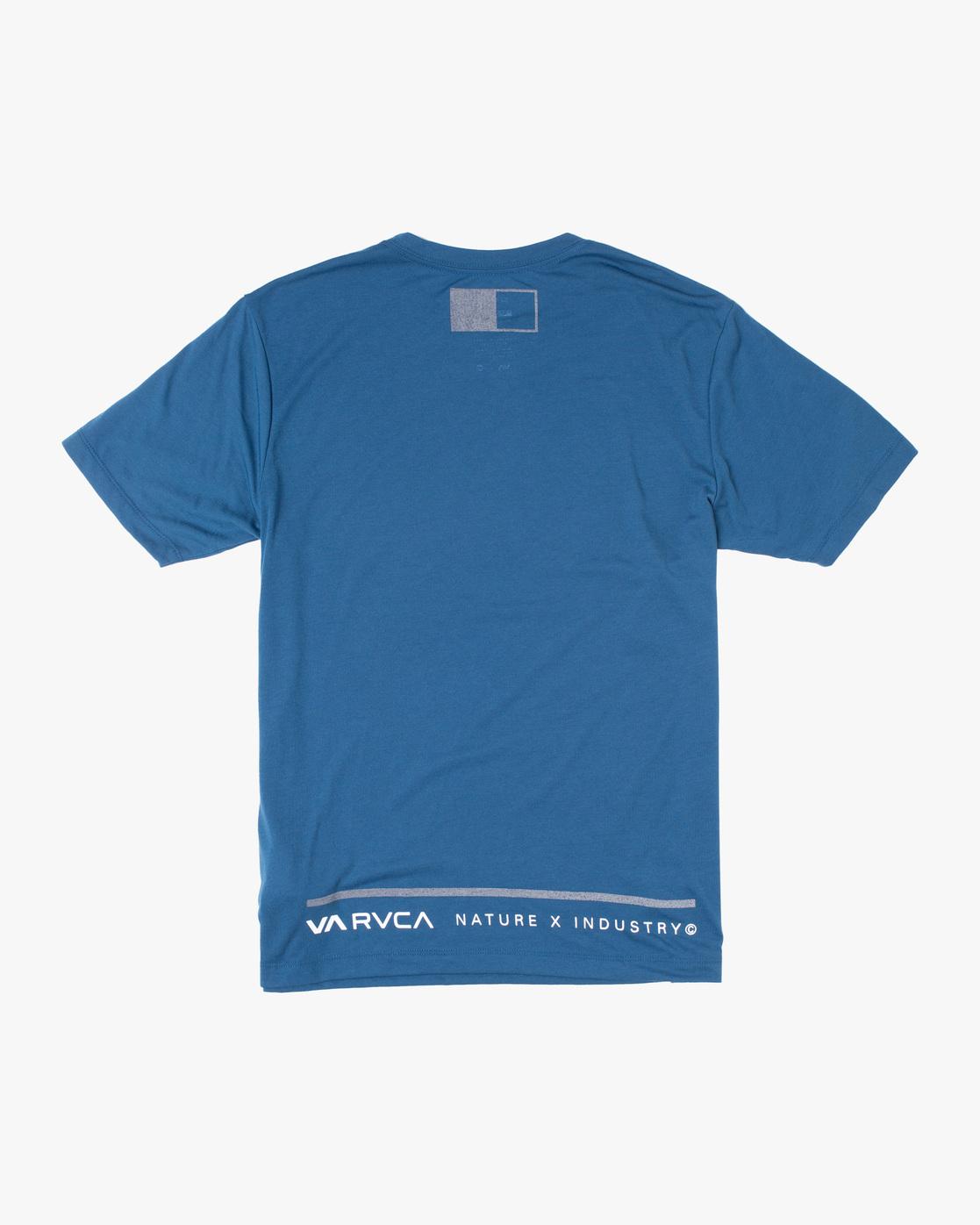 1 Reflective RVCA Balance Box Short Sleeve Tee Blue AVYZT00517 RVCA