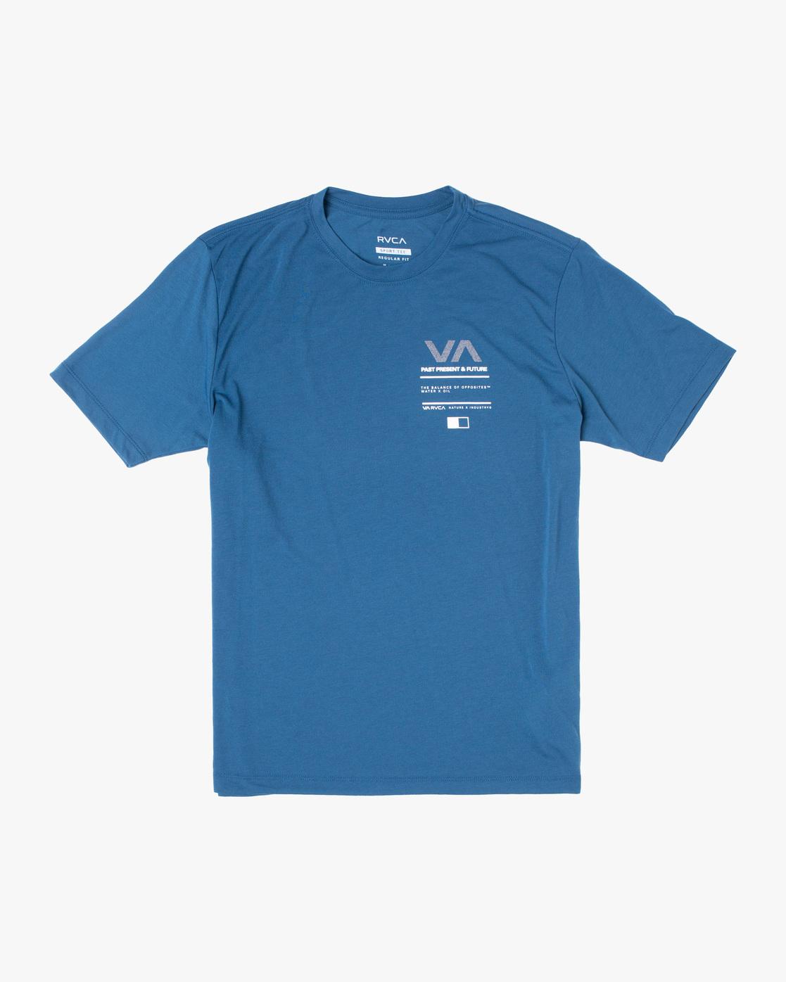0 Reflective RVCA Balance Box Short Sleeve Tee Blue AVYZT00517 RVCA