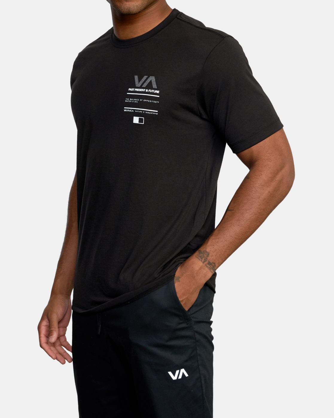 4 Reflective RVCA Balance Box Short Sleeve Tee Black AVYZT00517 RVCA