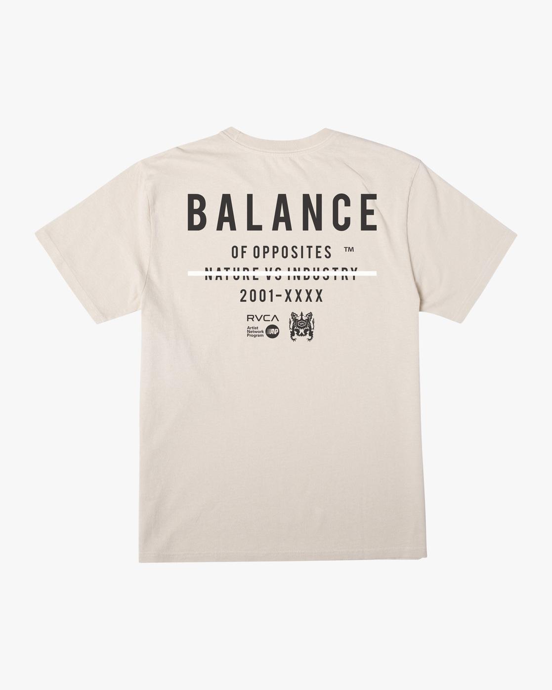 1 Balance Highlight Short Sleeve Tee Beige AVYZT00519 RVCA