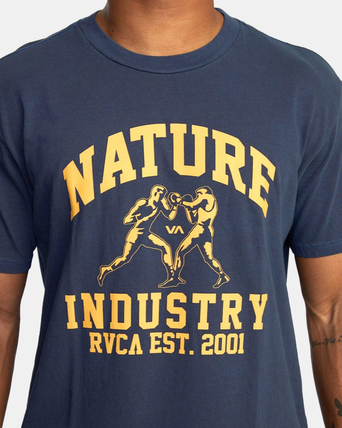 5 Boxing Alma Mater Short Sleeve Tee Blue AVYZT00520 RVCA